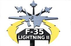 Φ-35 σύμβολο στοκ εικόνα