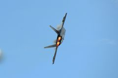 Φ-22 το αρπακτικό πτηνό στο μεγάλο αέρα της Νέας Αγγλίας παρουσιάζει Στοκ εικόνα με δικαίωμα ελεύθερης χρήσης