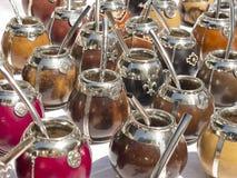 Φλυτζάνια μεταλλινών Calabash Στοκ φωτογραφία με δικαίωμα ελεύθερης χρήσης