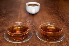 Φλυτζάνια του τσαγιού και του καφέ Στοκ Φωτογραφίες