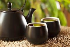Φλυτζάνια του τσαγιού και teapot στοκ φωτογραφία
