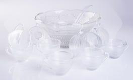φλυτζάνι γυαλιού ή σύνολο φλυτζανιού γυαλιού στο υπόβαθρο Στοκ Φωτογραφία