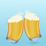 Φλυτζάνι γυαλιού μπύρας κινούμενων σχεδίων Στοκ φωτογραφίες με δικαίωμα ελεύθερης χρήσης