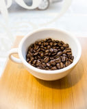 Φλυτζάνι και φασόλι Coffe Στοκ Φωτογραφίες