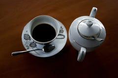 Φλυτζάνι καφέ και ζάχαρης στοκ εικόνα με δικαίωμα ελεύθερης χρήσης