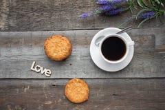 Φλυτζάνι καφέ και coockies Στοκ Εικόνες