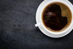Φλυτζάνι καφέ με τη διαστημική περιοχή αντιγράφων Στοκ εικόνα με δικαίωμα ελεύθερης χρήσης