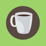 Φλυτζάνι καφέ που γεμίζουν με το επίπεδο σχέδιο καφέ Στοκ Εικόνες