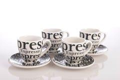 Φλυτζάνι καφέ σε ένα άσπρο υπόβαθρο Στοκ Φωτογραφίες