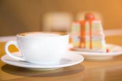 Φλυτζάνι καφέ στο κέικ στην Ταϊλάνδη Στοκ Εικόνα