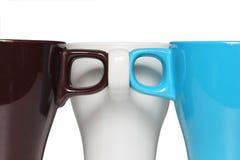 Φλυτζάνι καφέ τρίδυμων με το χρώμα 3 Στοκ εικόνα με δικαίωμα ελεύθερης χρήσης