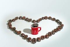 φλυτζάνι καφέ φασολιών αν&alph Στοκ Εικόνες