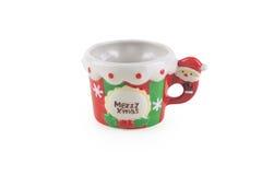 Φλυτζάνι καφέ Χριστουγέννων χαριτωμένο και λατρευτό Στοκ Εικόνες