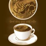 φλυτζάνι καφέ latte απεικόνιση αποθεμάτων
