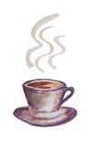 Φλυτζάνι καφέ Watercolor Στοκ φωτογραφία με δικαίωμα ελεύθερης χρήσης