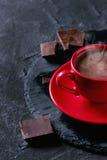 φλυτζάνι σοκολάτας καυτό Στοκ Φωτογραφίες