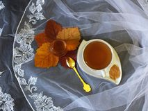 Φλυτζάνι του τσαγιού με το μέλι στοκ εικόνα με δικαίωμα ελεύθερης χρήσης