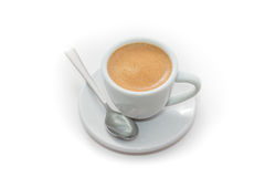 Φλυτζάνι του φρέσκου παρασκευασμένου espresso Στοκ φωτογραφία με δικαίωμα ελεύθερης χρήσης
