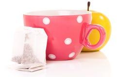 Φλυτζάνι τσαγιού με teabag στοκ εικόνες