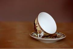 Φλυτζάνι τσαγιού της Κίνας, φλυτζάνι καφέ με το πιατάκι Στοκ εικόνα με δικαίωμα ελεύθερης χρήσης
