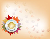 Φλυτζάνι φθινοπώρου του cofee Στοκ εικόνες με δικαίωμα ελεύθερης χρήσης