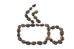 Φλυτζάνι φιαγμένο από φασόλια καφέ Στοκ Φωτογραφία