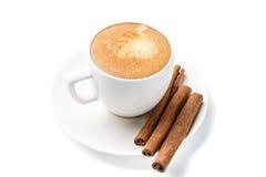 Φλυτζάνι Espresso η ανασκόπηση απομόνωσε το λευκό Στοκ Εικόνες