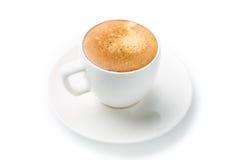 Φλυτζάνι Espresso η ανασκόπηση απομόνωσε το λευκό Στοκ Εικόνα