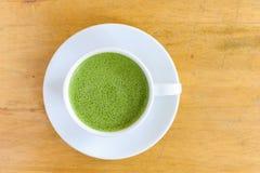 Φλυτζάνι Latte του πράσινου τσαγιού Στοκ φωτογραφία με δικαίωμα ελεύθερης χρήσης