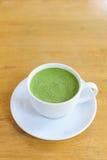 Φλυτζάνι Latte του πράσινου τσαγιού Στοκ Εικόνες