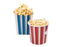 φλυτζάνι popcorn που απομονώνεται στοκ εικόνα