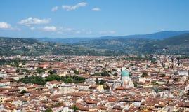 Φλωρεντία, εικονική παράσταση πόλης της Ιταλίας με τη μεγάλη συναγωγή της Φλωρεντίας Στοκ Φωτογραφία