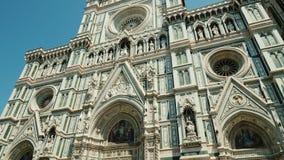 Φλωρεντία, Ιταλία, τον Ιούνιο του 2017: Duomo Σάντα Μαρία del Fiore, ένας δημοφιλής τόπος προορισμού τουριστών της Ευρώπης στη Φλ απόθεμα βίντεο