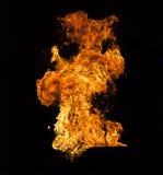 Φλόγα πυρκαγιάς στο μαύρο υπόβαθρο στοκ φωτογραφία με δικαίωμα ελεύθερης χρήσης