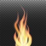 Φλόγα στο διαφανές υπόβαθρο Στοκ φωτογραφίες με δικαίωμα ελεύθερης χρήσης