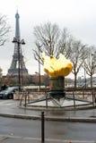 Φλόγα της ελευθερίας στο Παρίσι στοκ φωτογραφίες με δικαίωμα ελεύθερης χρήσης