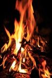 Φλόγα της πυρκαγιάς Στοκ εικόνα με δικαίωμα ελεύθερης χρήσης