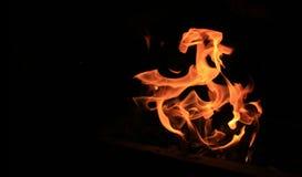 Φλόγα της πυρκαγιάς Στοκ φωτογραφία με δικαίωμα ελεύθερης χρήσης