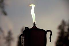 Φλόγα φανών κεριών Στοκ εικόνες με δικαίωμα ελεύθερης χρήσης
