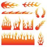 Φλόγα Decal Στοκ εικόνες με δικαίωμα ελεύθερης χρήσης
