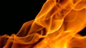 Φλόγες που καίνε στο μαύρο υπόβαθρο φιλμ μικρού μήκους