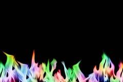 φλόγες πυρκαγιάς που τίθ Στοκ Φωτογραφίες