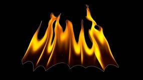 Φλόγες πυρκαγιάς σε μια μαύρη ανασκόπηση Στοκ εικόνα με δικαίωμα ελεύθερης χρήσης