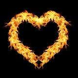 Φλόγες πυρκαγιάς στο Μαύρο Στοκ εικόνα με δικαίωμα ελεύθερης χρήσης