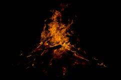 Φλόγες στο μαύρο υπόβαθρο Στοκ Εικόνα