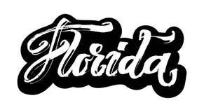 Φλώριδα sticker Σύγχρονη εγγραφή χεριών καλλιγραφίας για την τυπωμένη ύλη Serigraphy διανυσματική απεικόνιση
