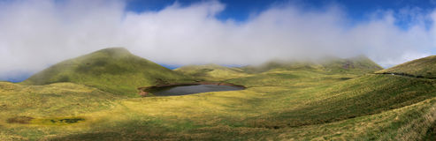 Χάιλαντς Pico του νησιού, Αζόρες - πανόραμα Στοκ Εικόνες