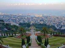 Χάιφα από την κορυφή των κήπων Bahà ¡ 'à στοκ εικόνες με δικαίωμα ελεύθερης χρήσης