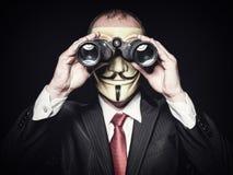 Χάκερ με τις διόπτρες Στοκ εικόνα με δικαίωμα ελεύθερης χρήσης