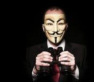 Χάκερ με τις διόπτρες Στοκ Φωτογραφίες